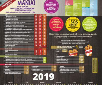 Pizzeria Menu 2019